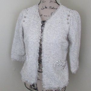 American Rag Open Cardigan Medium Raw Hem Womens